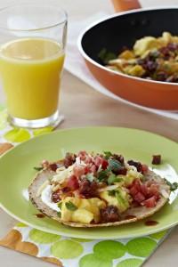 Chorizo Scrambled Egg Taco Breakfast Recipe