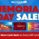 Happy Memorial Day from MyGiftCardsPlus