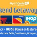 MyGiftCardsPlus Weekend Getaway Sale
