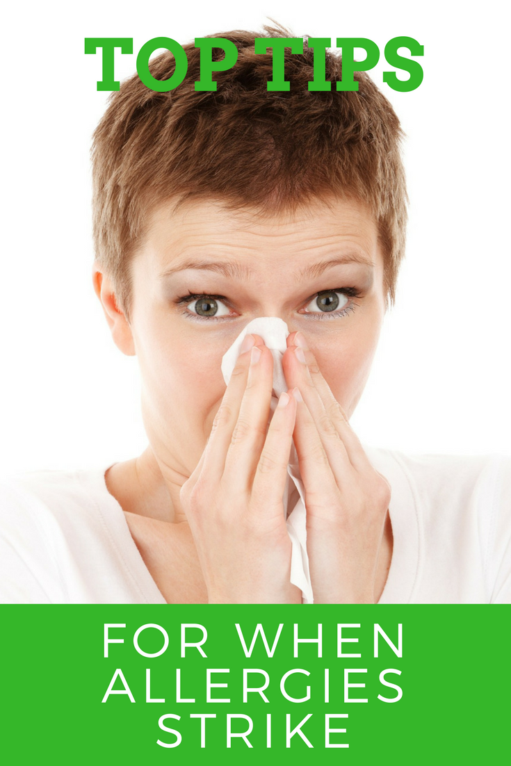 top tips for when allergies strike